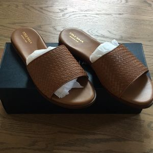 Cole Haan new w/ box. Size 9.5 brown slip ons.
